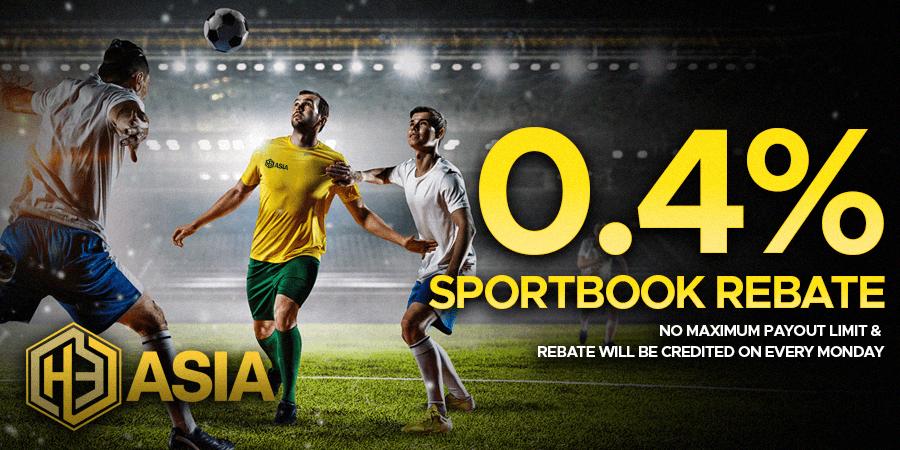 Sports Rebate - Sportbook 0.4% Rebate